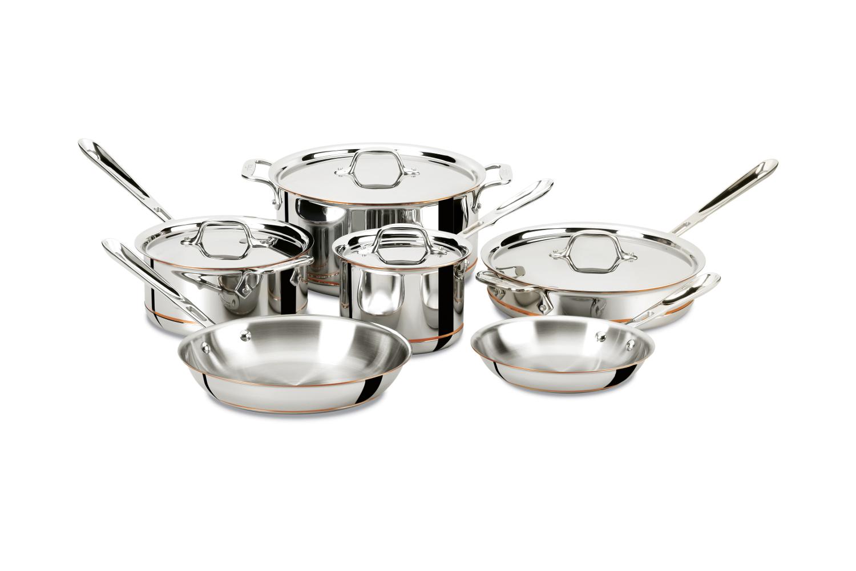All-Clad Copper-Core 10 Piece Cookware Set