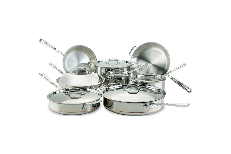 All Clad Copper Core 14pc Cookware Set 8400000085 Sale