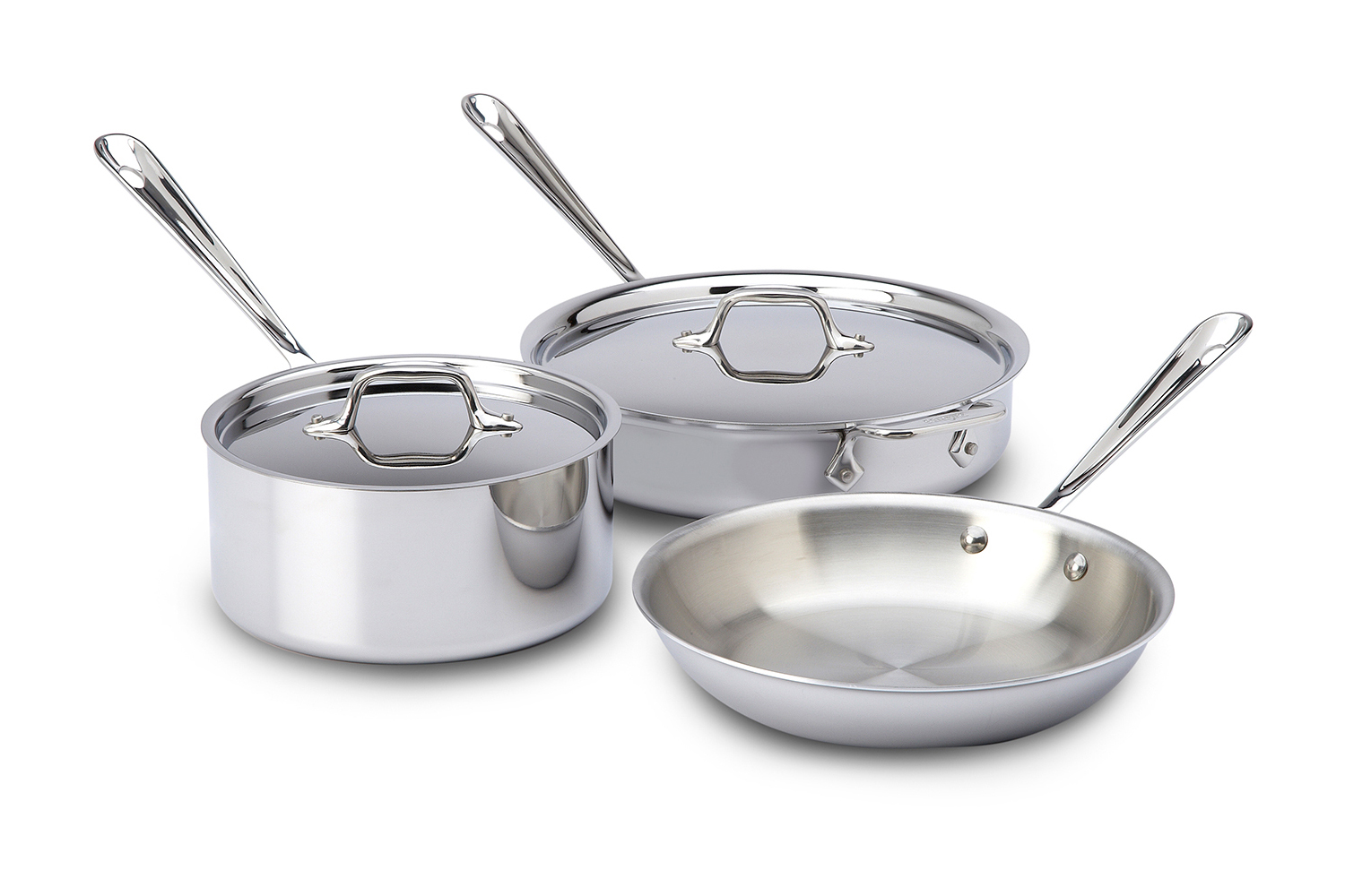 All-Clad d3 Tri-Ply Stainless Steel 5 Piece Cookware Set