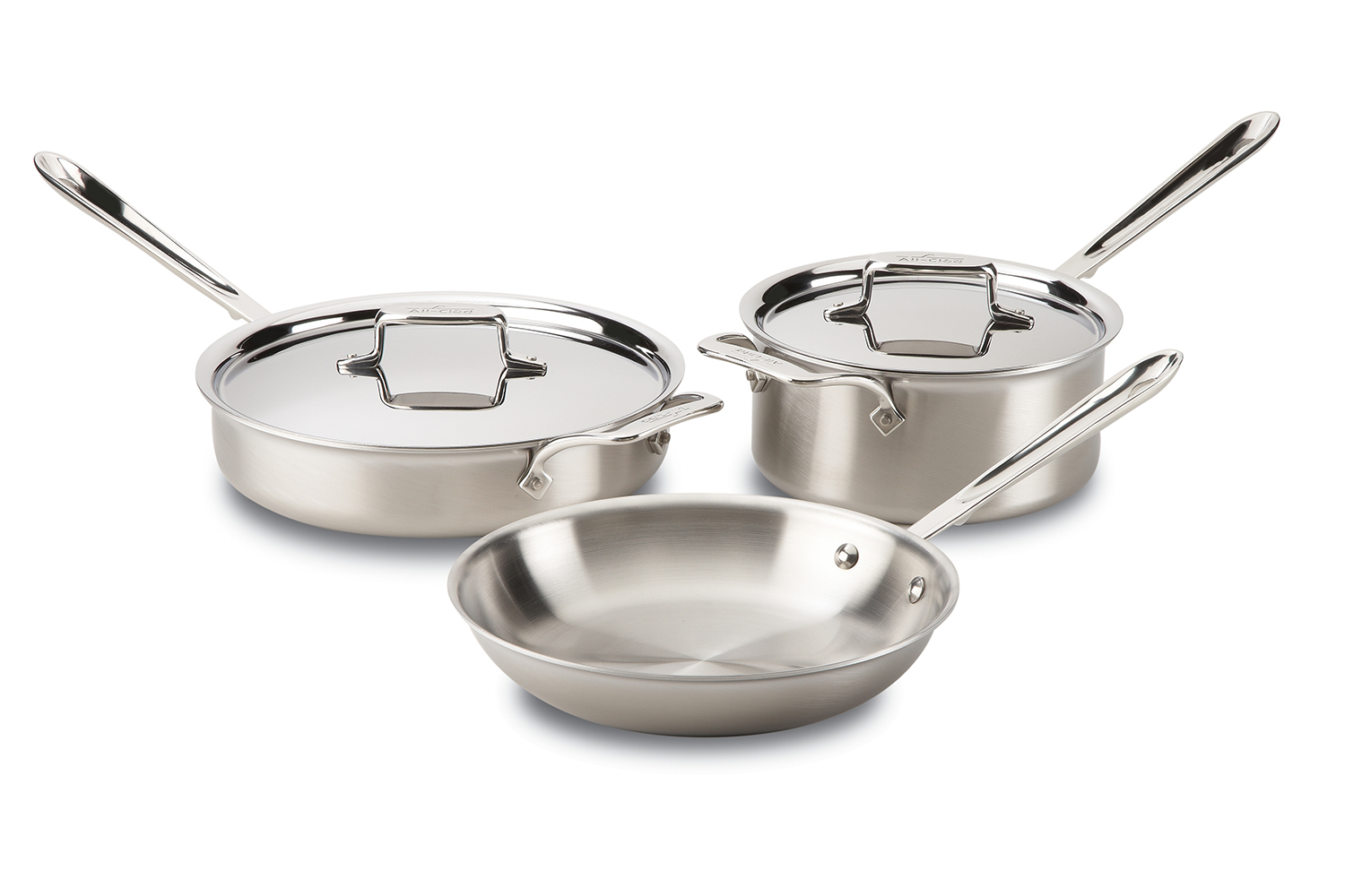 All-Clad d5 Brushed Stainless 5 Piece Cookware Set