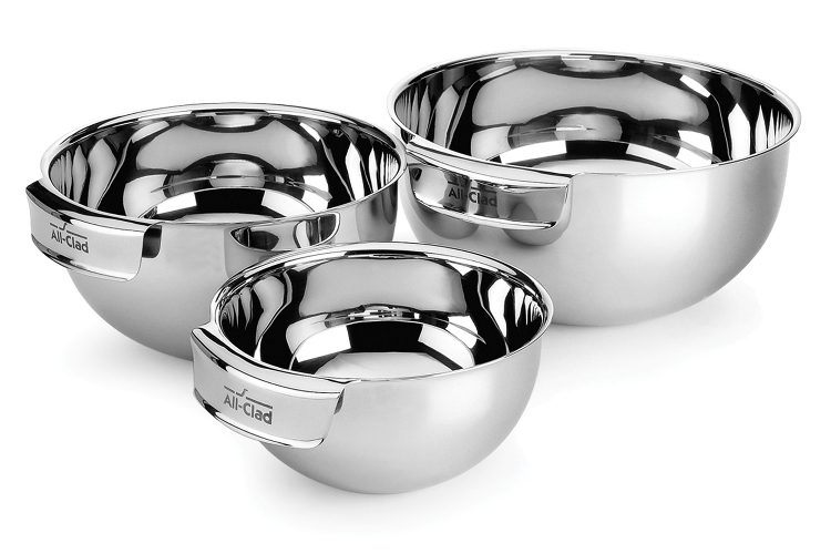 All Clad Stainless 3 Piece Mixing Bowl Set 8700800160 Sale