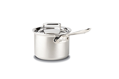 All-Clad d5 Brushed Stainless 2 qt. Sauce Pan w/Lid