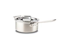 All-Clad d5 Brushed Stainless 3 qt. Sauce Pan w/Lid & Loop