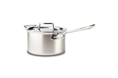 All-Clad d5 Brushed Stainless 4 qt. Sauce Pan w/Lid & Loop