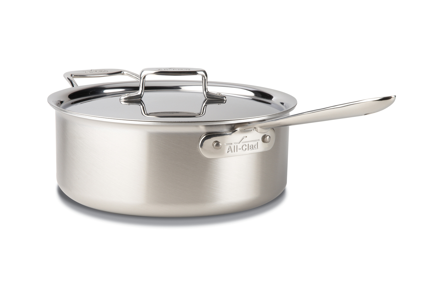 All-Clad d5 Brushed Stainless 6 qt. Deep Saute Pan w/Lid