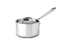 All-Clad d3 Tri-Ply Stainless Steel 1 1/2 qt. Sauce Pan w/Lid
