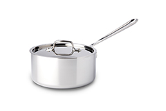 All-Clad d3 Tri-Ply Stainless Steel 3 qt. Sauce Pan w/Lid