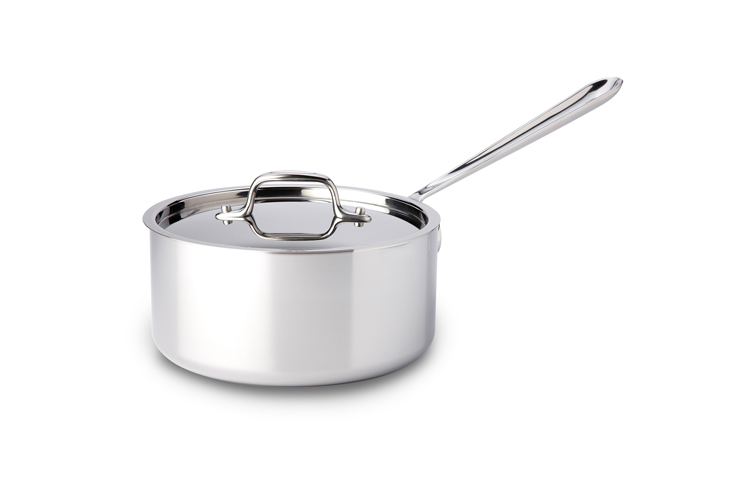 All Clad Stainless Steel 3qt Sauce Pan W Lid Metrokitchen