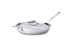 All-Clad d3 Tri-Ply Stainless Steel 13 inch French Skillet w/Lid