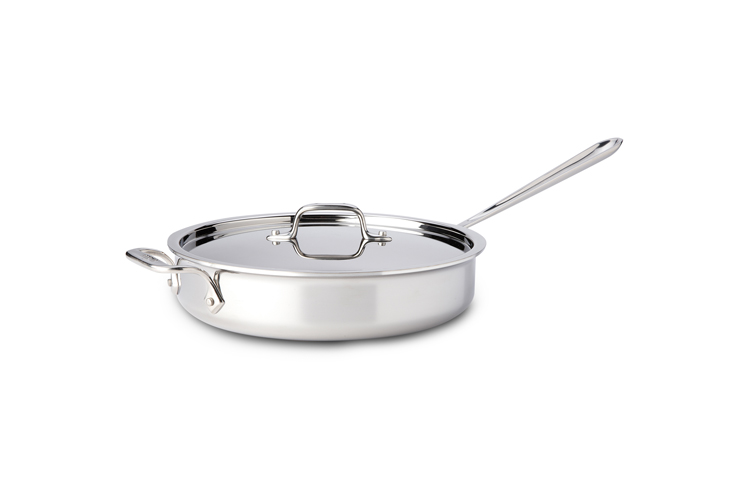 All Clad Stainless Steel 3qt Saute Pan W Lid Metrokitchen