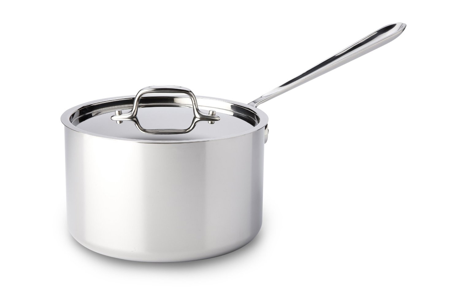 All-Clad d3 Tri-Ply Stainless Steel 3 1/2 qt. Sauce Pan w/Lid