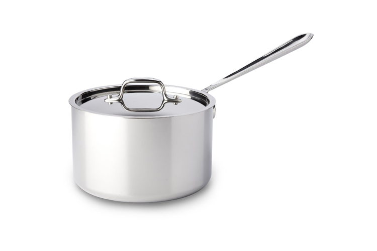 All Clad Tri Ply Stainless Steel 3 5qt Sauce Pan Amp Lid