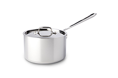 All-Clad d3 Tri-Ply Stainless Steel 4 qt. Sauce Pan w/Lid