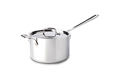 All-Clad d3 Tri-Ply Stainless Steel 4 qt. Sauce Pan w/Lid & Loop