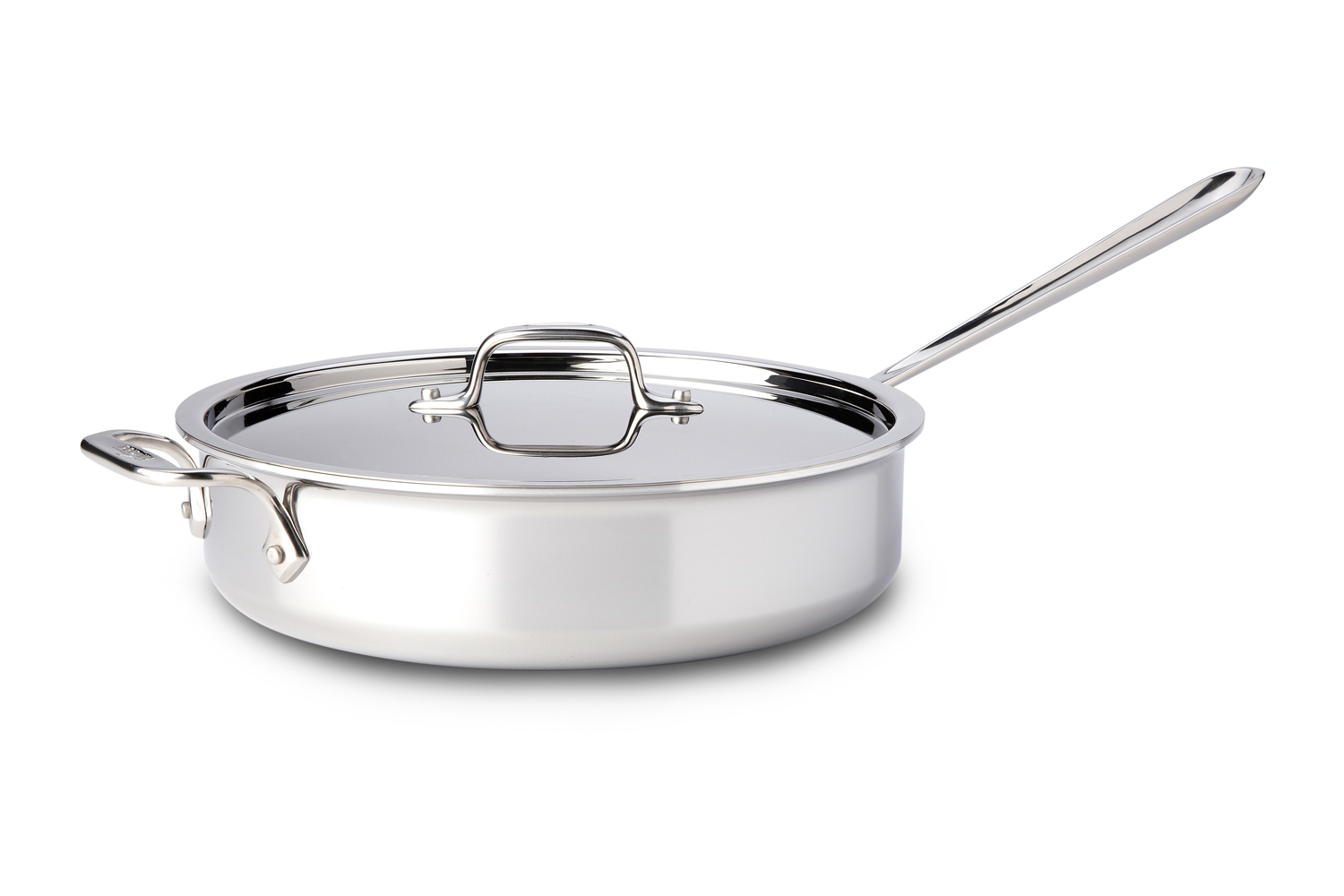 All-Clad d3 Tri-Ply Stainless Steel 4 qt. Saute Pan w/Lid