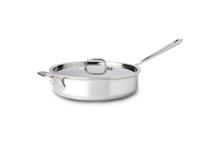All Clad Stainless Steel 4qt Saute Pan W Lid Metrokitchen