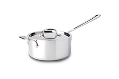 All-Clad d3 Tri-Ply Stainless Steel 3 qt. Sauce Pan w/Lid & Loop
