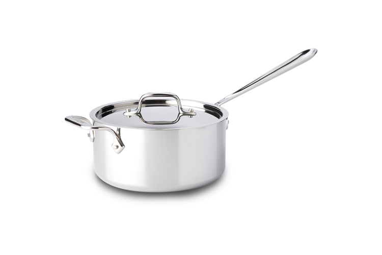 All Clad Stainless Steel 3qt Sauce Pan W Lid Amp Loop