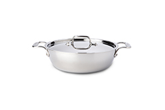 All-Clad d3 Tri-Ply Stainless Steel 3 qt. Cassoulet w/Lid