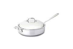 All-Clad d3 Tri-Ply Stainless Steel 4 qt. Saute Pan w/Domed Lid