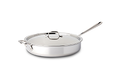 All-Clad d3 Tri-Ply Stainless Steel 6 qt. Saute Pan w/Lid