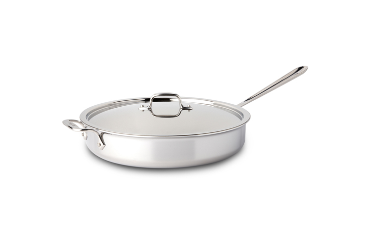 All Clad Stainless Steel 6qt Saute Pan W Lid Metrokitchen