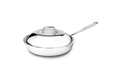 All-Clad d3 Tri-Ply Stainless Steel 9 inch Nonstick French Skillet w/Domed Lid
