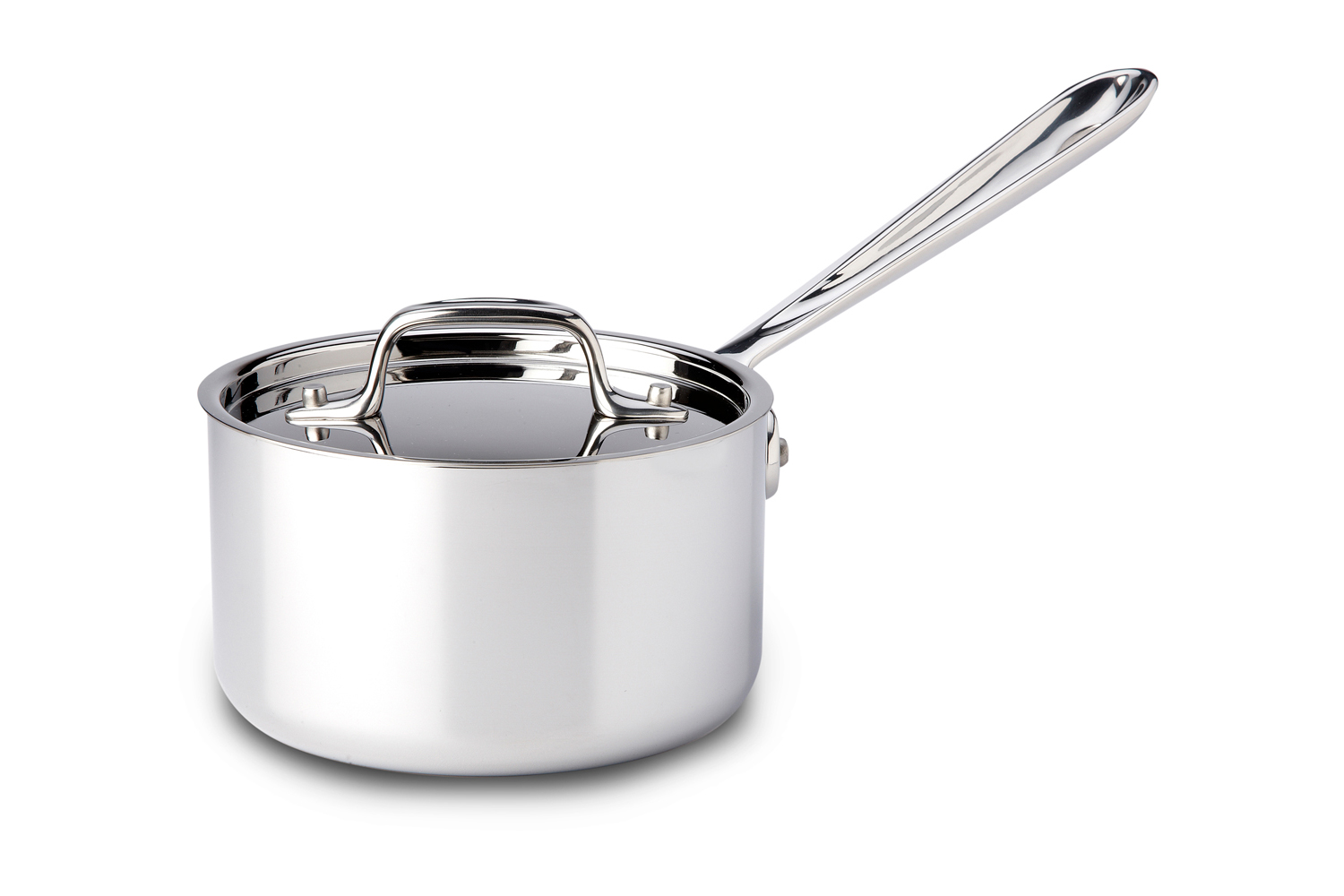 All-Clad d3 Tri-Ply Stainless Steel 1 qt. Sauce Pan w/Lid