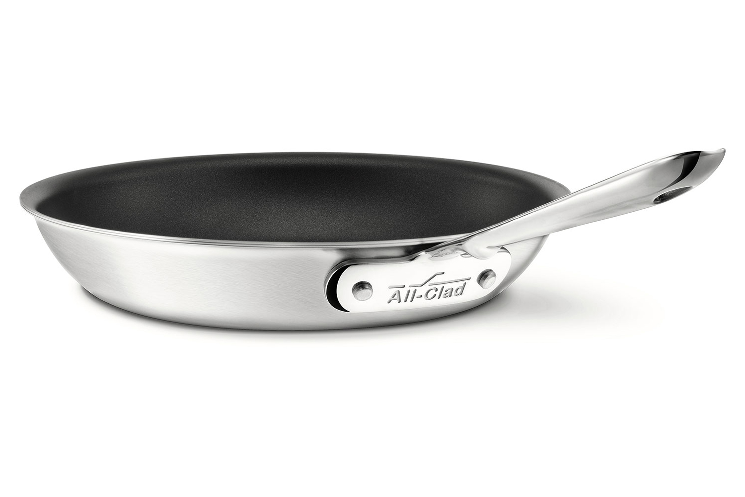 All Clad D5 Brushed Stainless 10in Nonstick Frying Pan