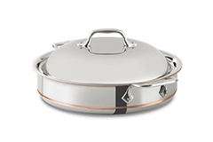 All-Clad Copper-Core 3 qt. Sauteuse Pan w/Lid