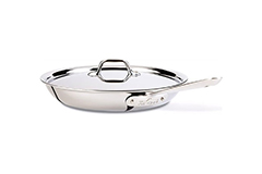 All-Clad d3 Tri-Ply Stainless Steel 12 inch Fry Pan w/Lid