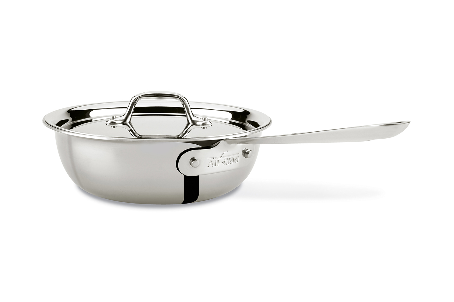 All-Clad d3 Tri-Ply Stainless Steel 2.5 qt. Multipurpose Pan w/Lid