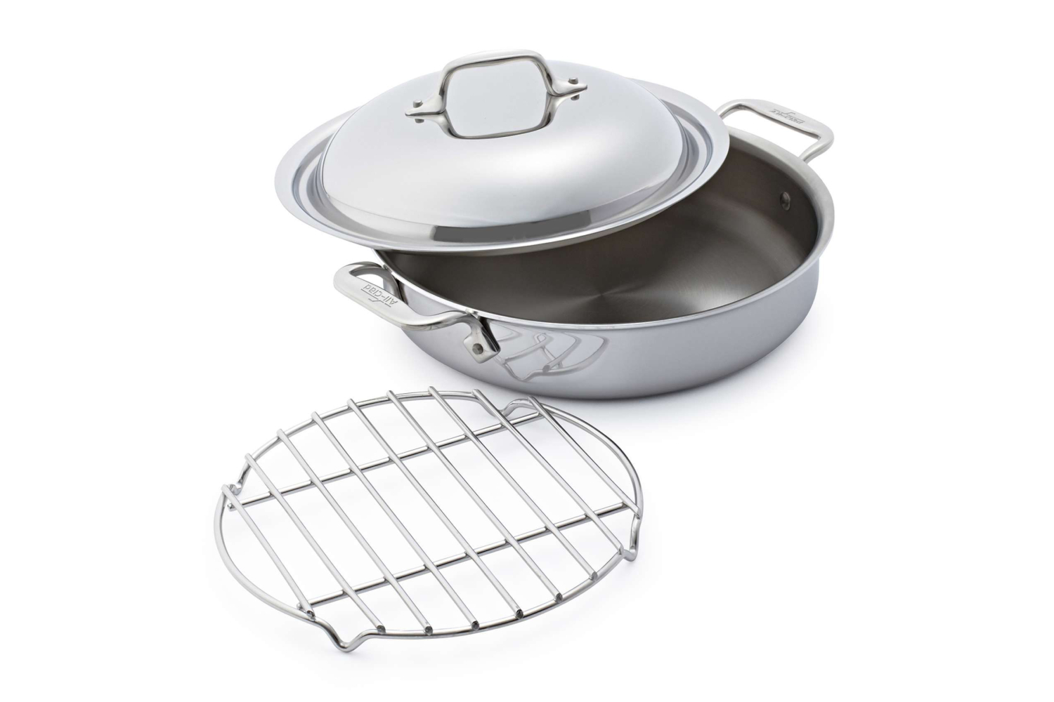 All-Clad d3 Tri-Ply Stainless Steel 3 qt. Steam & Sear Pan  w/Rack & Domed Lid