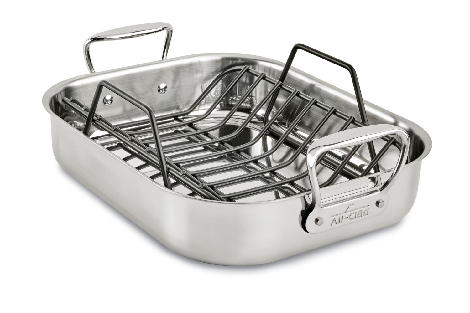 All-Clad Stainless Steel 14 x 11 inch Small Roasting Pan w/Rack