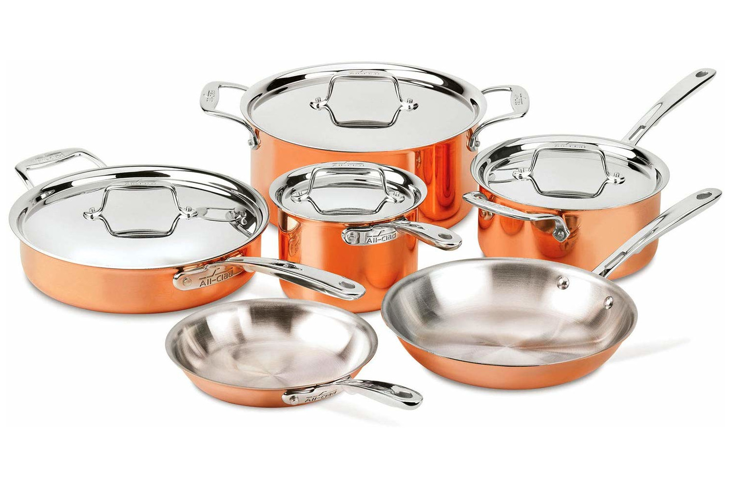 All-Clad c4 Copper 10 Piece Cookware Set