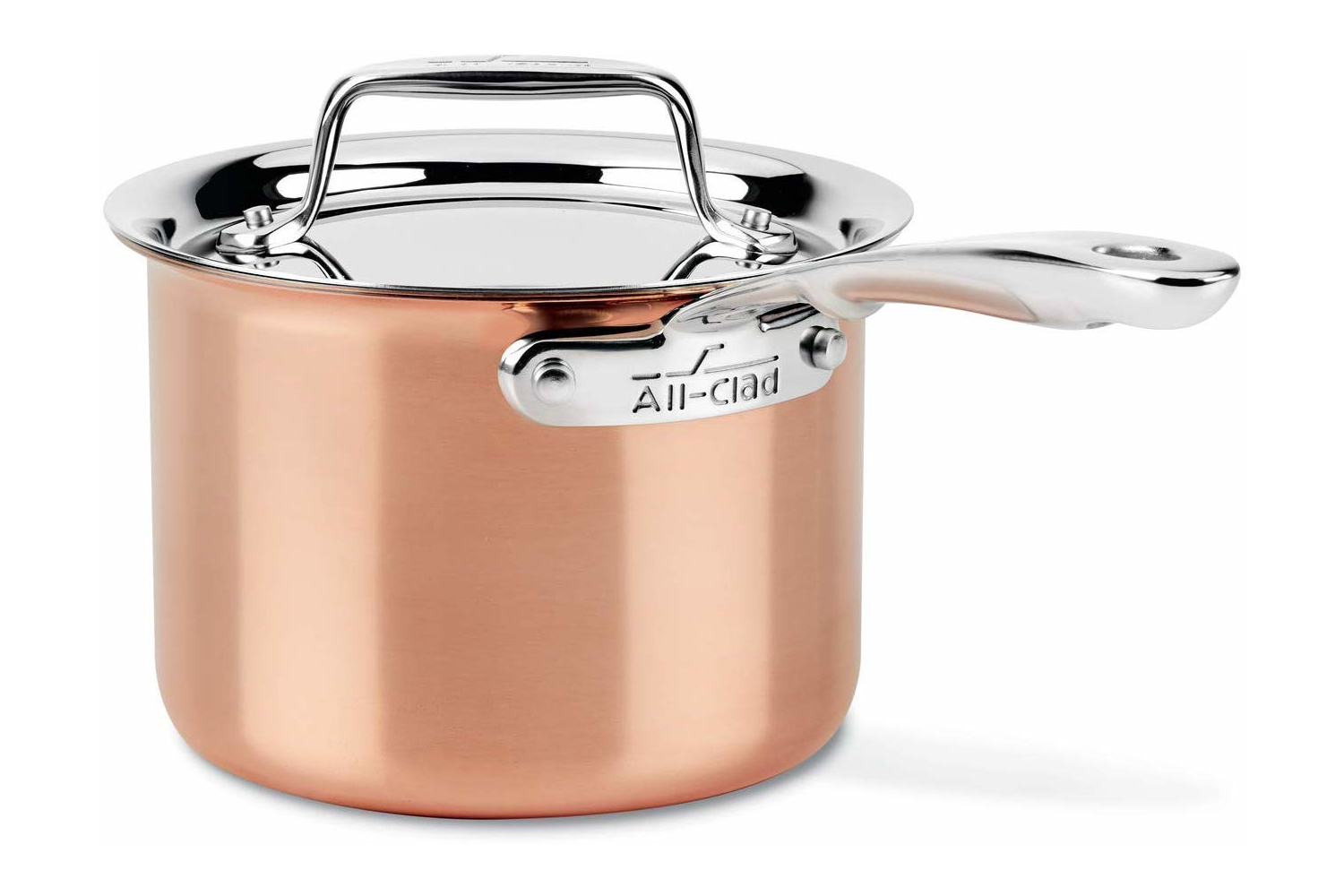 All-Clad c4 Copper 2 qt. Sauce Pan w/Lid
