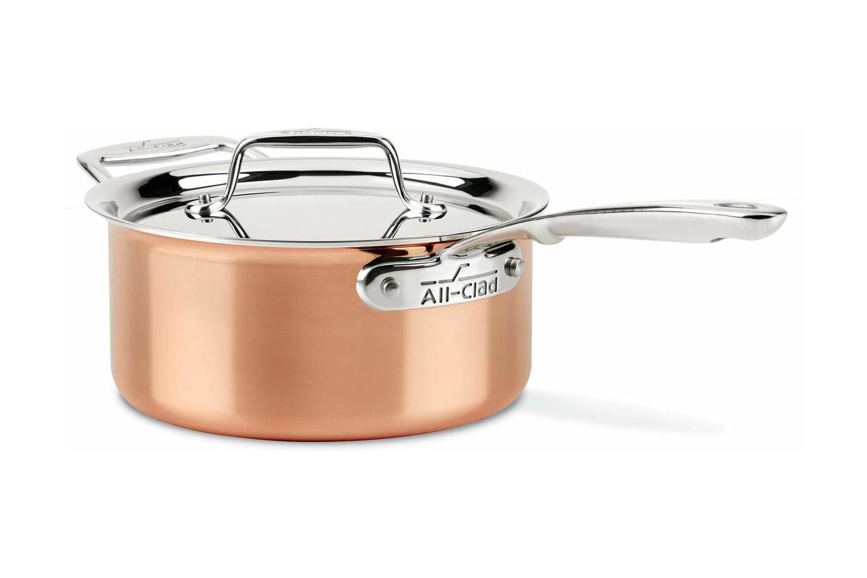 All Clad C4 Copper 3 Qt Sauce Pan W Lid C4203 Free