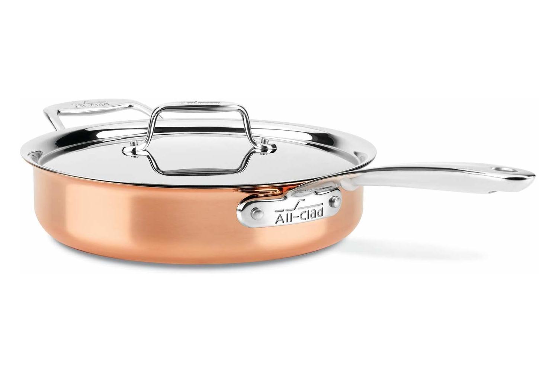 All-Clad c4 Copper 3 qt. Saute w/Lid