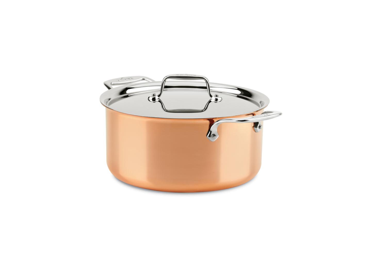 All-Clad c4 Copper 8 qt. Stock Pot w/Lid