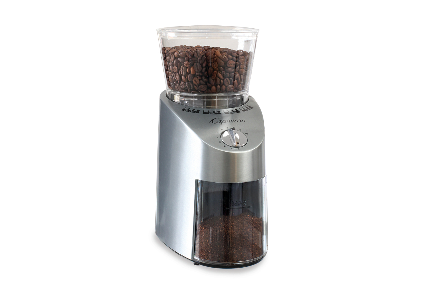 Capresso Infinity Commerical Grade Conical Burr Grinder - Stainless Steel