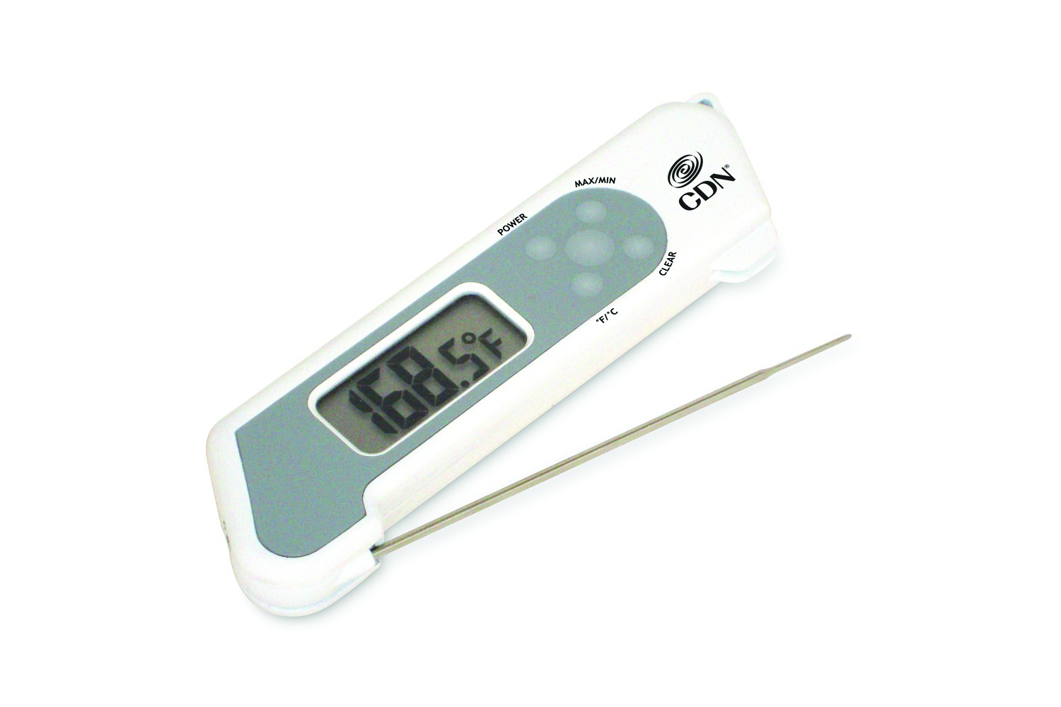 CDN ProAccurate Folding Thermocouple Thermometer - White