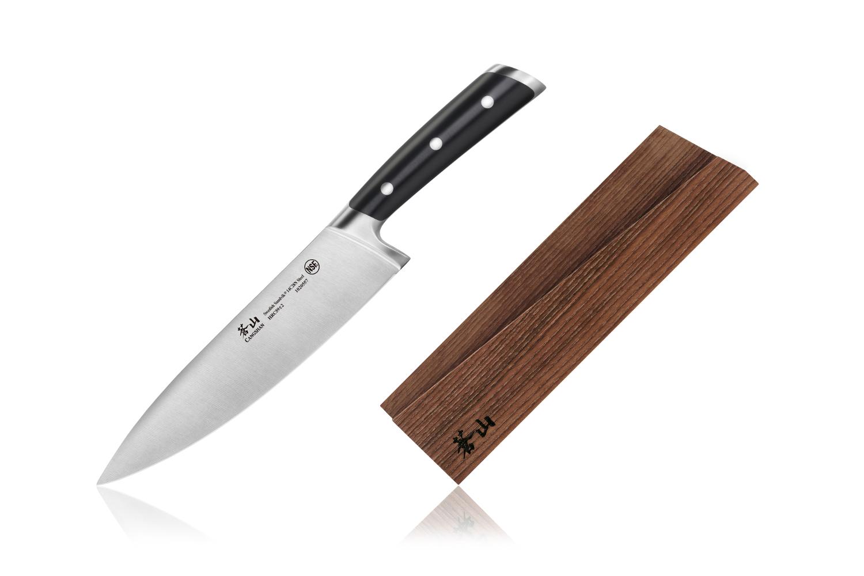 Cangshan TS Series Swedish Steel Forged 8 inch Chef Knife w/Wood Sheath