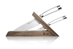 Cangshan TN1 Series Swedish Steel Forged 3 Piece Knife Block Set w/Walnut Block