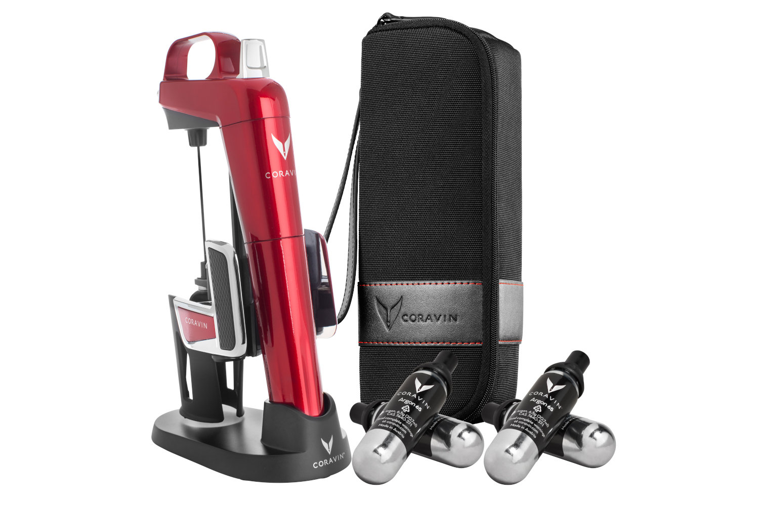 Coravin Model Two Elite Pro Bundle - Red