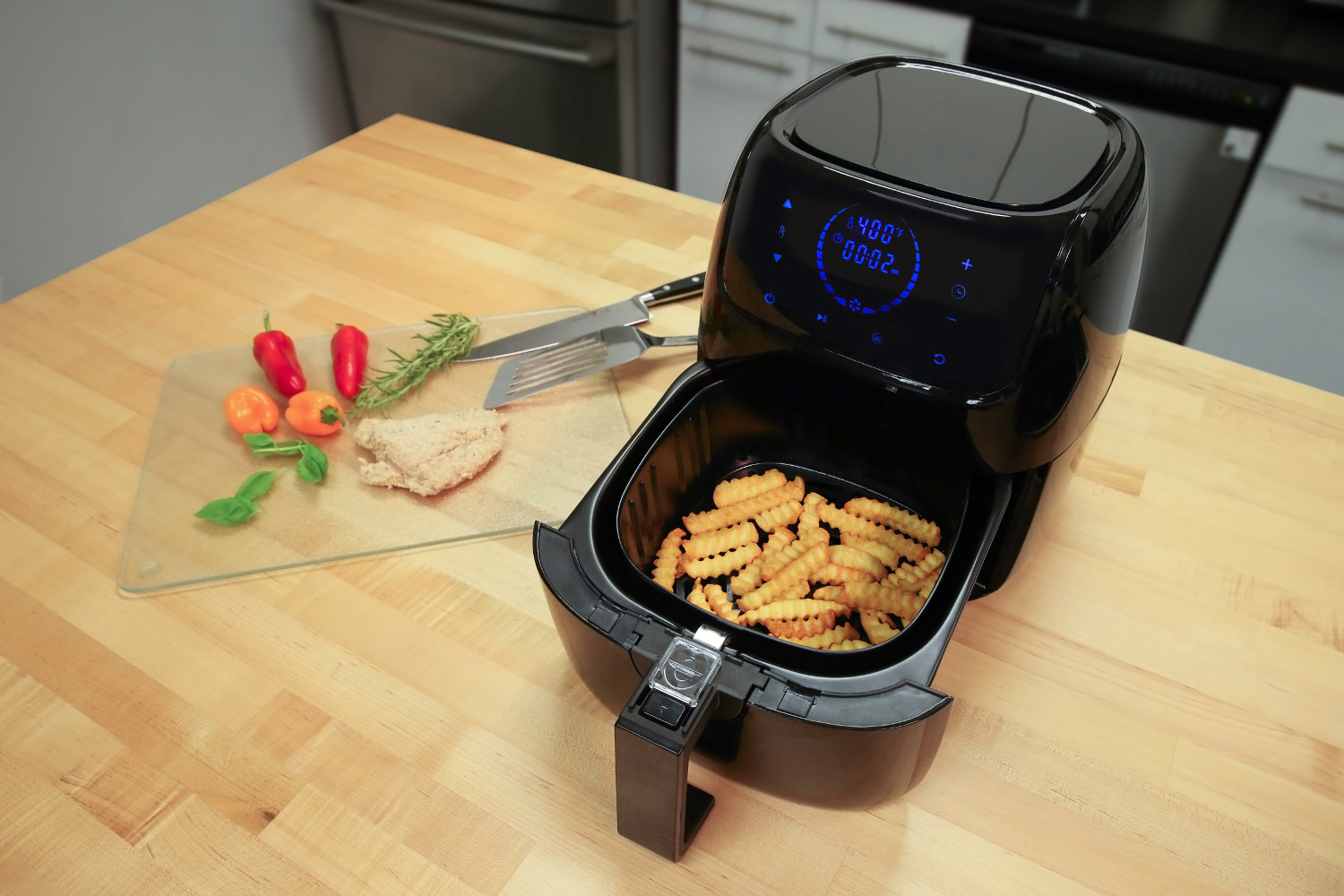Caso Electric Low-Fat Hot Air Fryer w/Advanced Hot Air Circulation Technology