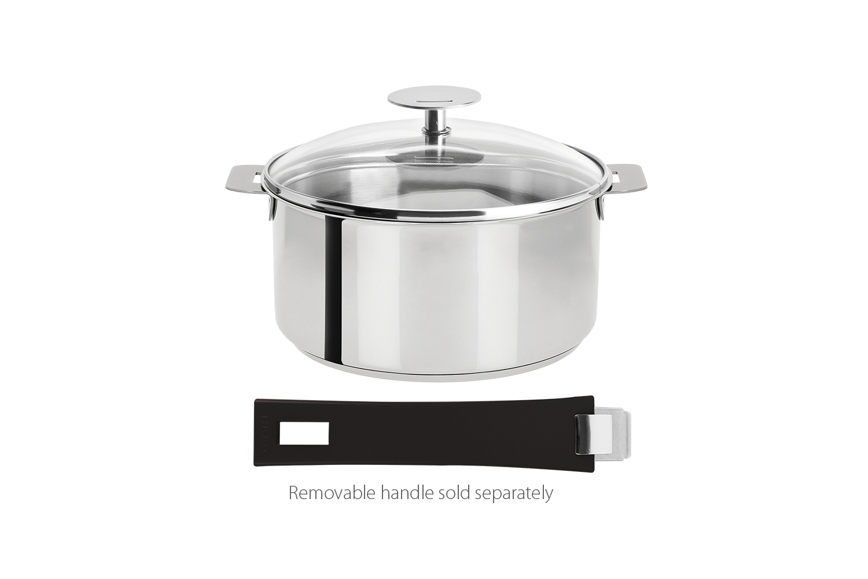 Cristel Mutine Stainless Steel 1 qt. Sauce Pan w/Glass Lid