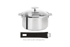 Cristel Mutine Stainless Steel 1-1/2 qt. Sauce Pan w/Glass Lid