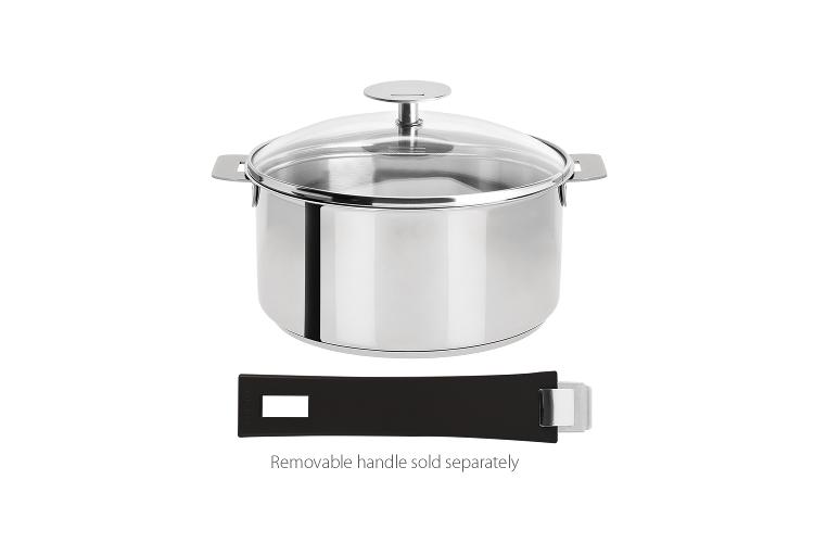 Cristel Mutine Stainless Steel 1 1 2 Qt Sauce Pan W Glass
