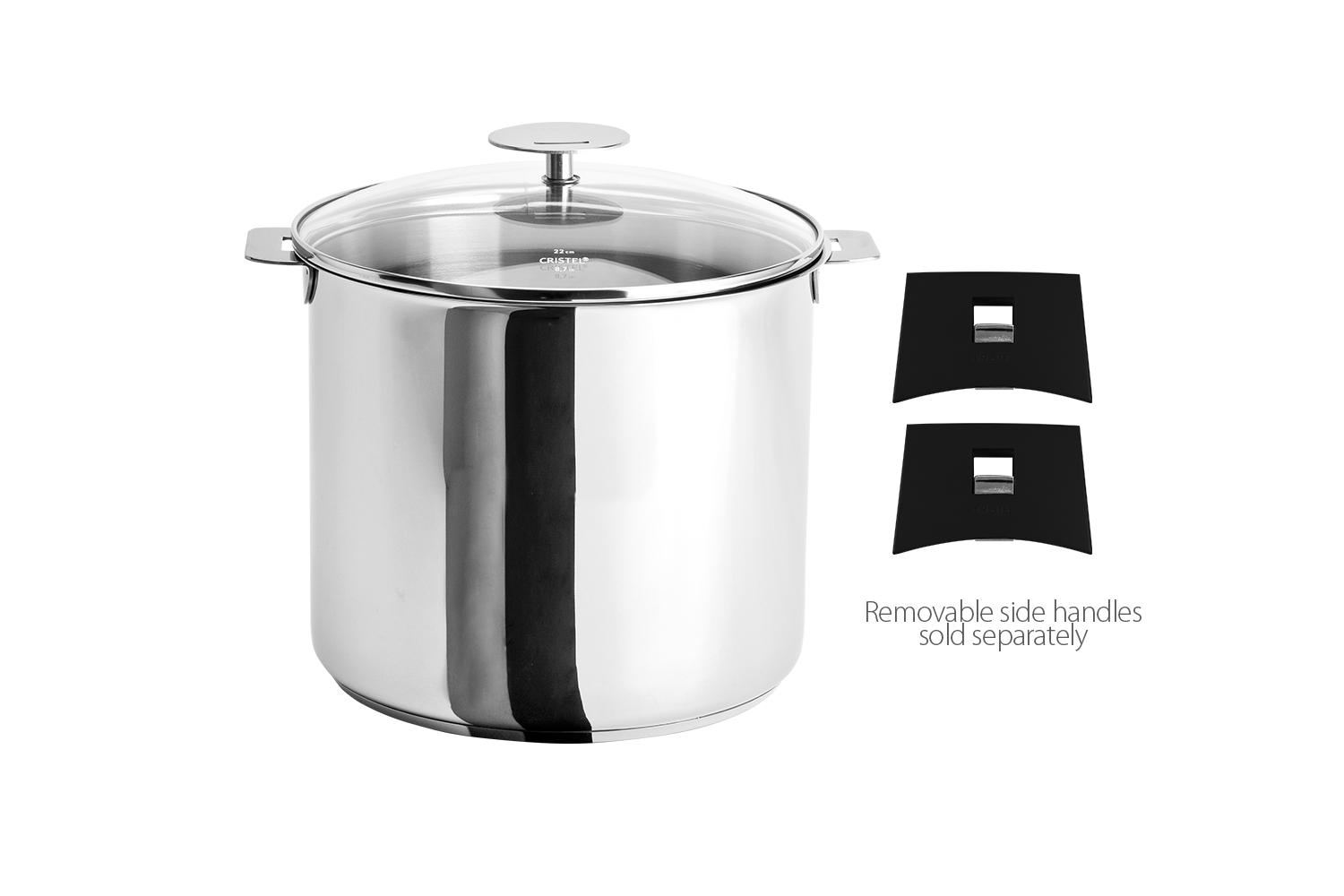 Cristel Stainless Steel 5.5 qt. Stock Pot w/Glass Lid