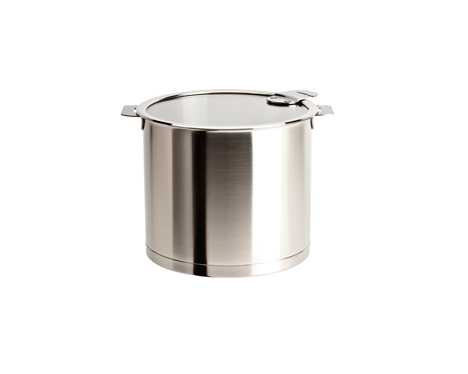 Cristel Strate Brushed Stainless Steel 5.5 qt. Stock Pot w/Glass Lid